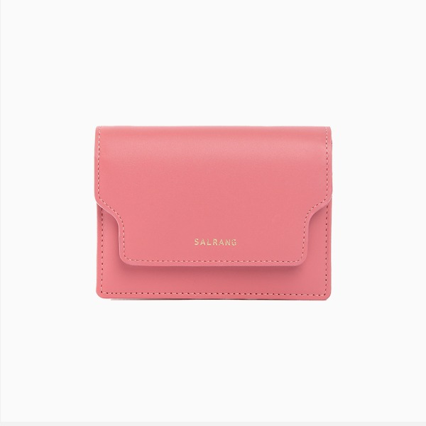 REIMS W020 zip Card Wallet Rose Pink
