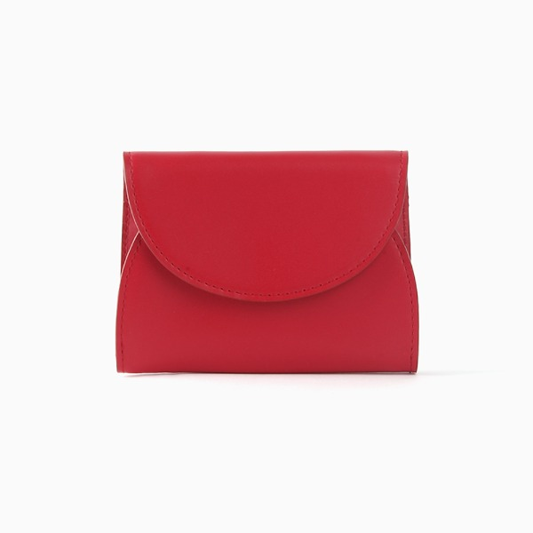 REIMS W022 Cover R Pocket wallet Coral Red