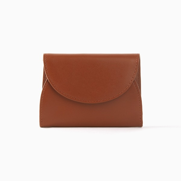 REIMS W022 Cover R Pocket wallet Camel Brown