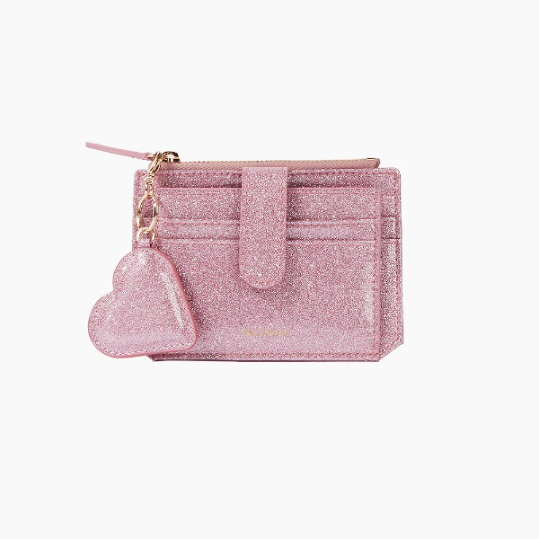 Dijon 301S Flap mini Card Wallet Pink Pearl